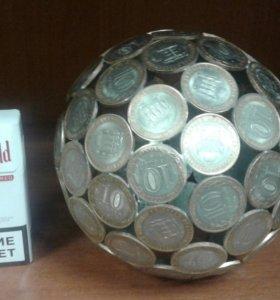 Шарик из монеток
