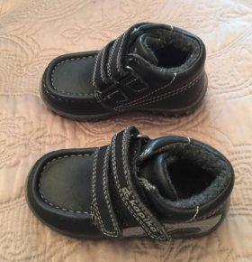 Кожаные ботинки для мальчика 22 размер