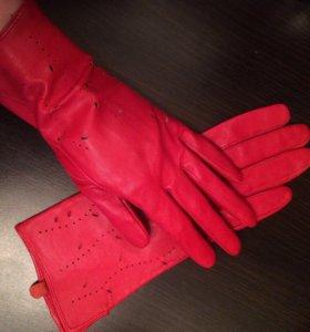 Перчатки женские новые, нат.кожа
