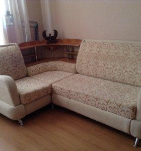 Угловой диван с подсветкой