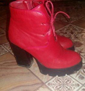 Осенние ботинки и сумочка
