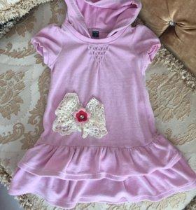 Платье велюр 2-3 г