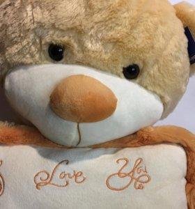 Медведь с подушечкой 75 см