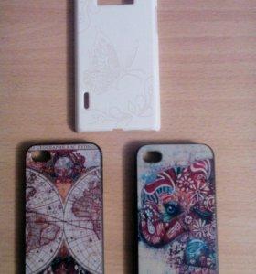 Чехол(клипкейс) на iPhone 4/4s, LG L7