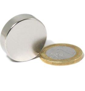 Магнит неодимовый диск 30х10мм (сцепление 20 кг)
