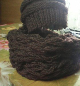 Шапка и шарф(снуд)