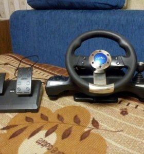 Игровая консоль.Руль и педали .