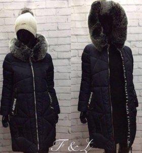 Куртка чёрная длинная