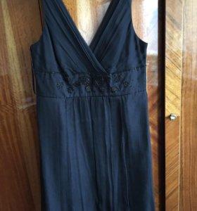 Платье Monsoon р. 52 (EUR 46 / U. K. 18) 100 шёлк