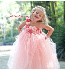 Детское нарядное бальное платье на праздник
