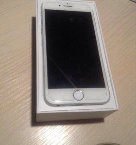 iPhone 6 64gb silver в хорошем состоянии