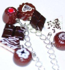 Шоколадный десерт-браслет