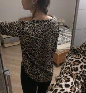 Леопардовая кофта Zara
