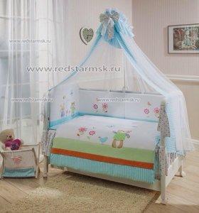 Новый комплект постельного белья в кроватку Perina