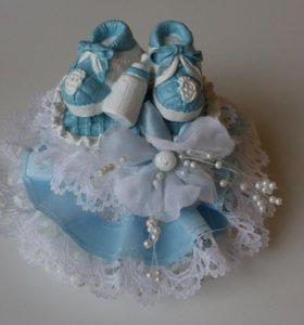 Украшение на торт для новорожденных
