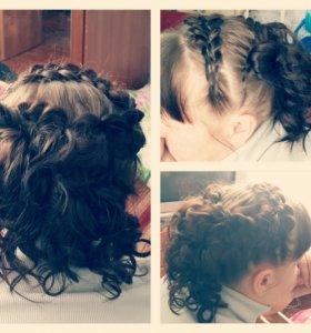 Плетение кос,прически из кос