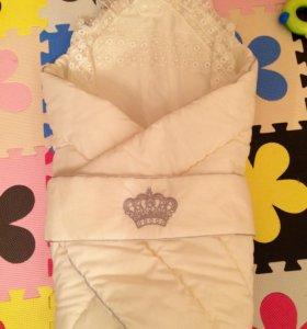 Конверт-одеяло+уголок на выписку