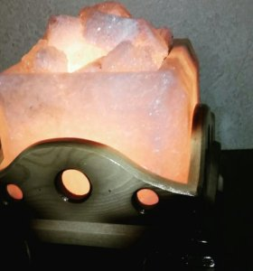 солевая лампа -камин