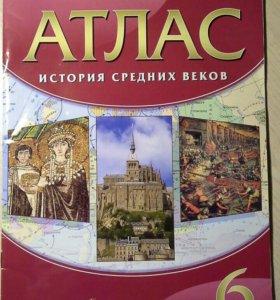 Атлас История Средних веков 6 класс
