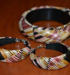 Комплект серьги+браслет