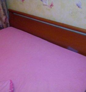 2-x спальная  Кровать из натурального дерева
