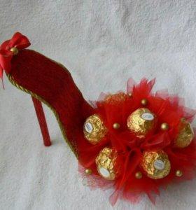 Туфли из конфет