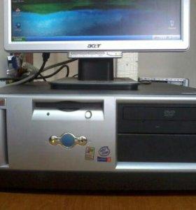 """Системный блок HP Compaq Evo + монитор ЖК 17"""""""