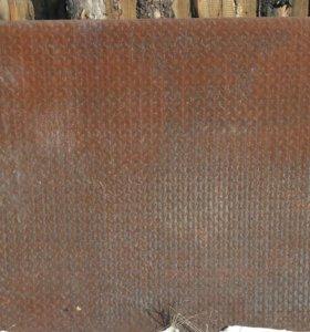 Лист металла 4 мм. Рифленный, 1,5*3м.