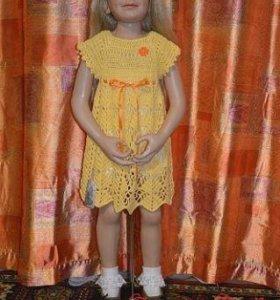 Хлопковое платье на 2-4 года