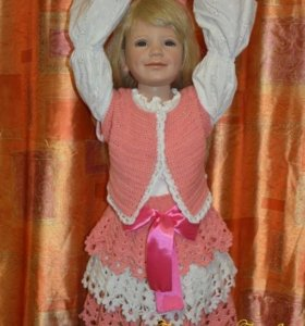 Костюм-двойка (болеро и юбка) на 4-5 лет