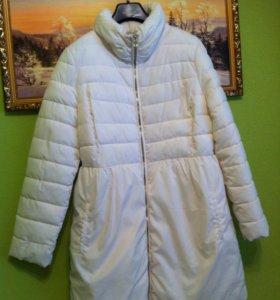 Пальто белое новое