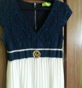 Нарядное платье в пол для беременных подойдет