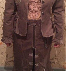 Костюм двойка, юбка и пиджак