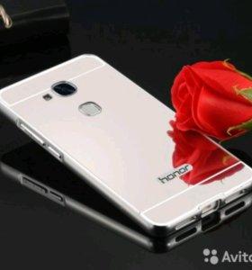 Хром-зеркальный бампер для Huawei Honor 5x