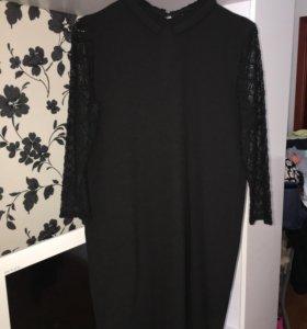 Продам платье чёрного цвета с воротником!