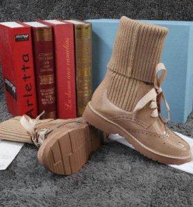 Ботинки PRADA бежевые