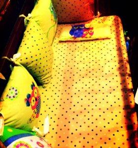Бортики и постельное белье