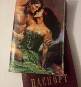 Обложка на паспорт,ручной работы.Кожа натуральная