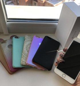 IPhone 6plus 64gb + 6 чехлов