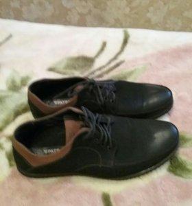 Туфли черные с коричневым,легкие