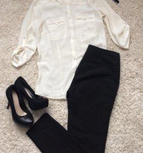 Шифоновая Рубашка-туника H&M