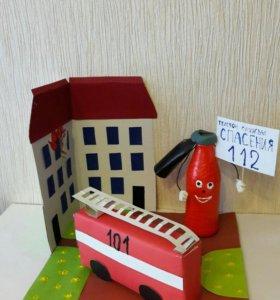 🚒Поделка Пожарная охрана в садик или школу