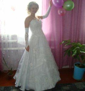 Свадебное платье+подьюбник