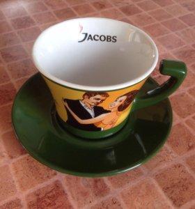 Чашка+блюдце Jacobs