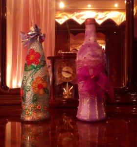 Декоративные бутылки (ручная работа)