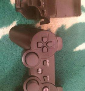 Джостик Sony Playstation 3 + держатель телефона