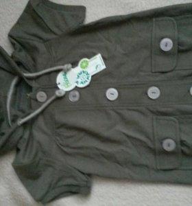 Блузка толстовка с коротким рукавом