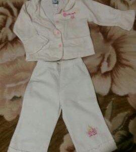 Белый вельветовый костюмчик