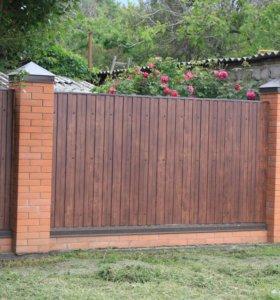 Новый, Ровный и Прочный Забор