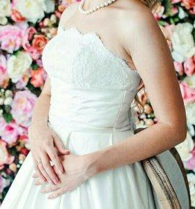 Свадебное платье + фата + болеро